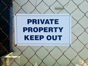 Keep out sign Charlotte Injury Lawyer Mecklenburg premises liability attorney