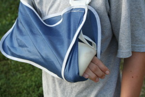 Arm in sling Charlotte Injury Lawyer Mecklenburg North Carolina consortium Attorney