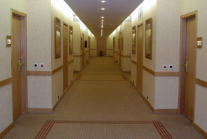 Hotel hallway Charlotte Injury Lawyer Mecklenburg Accident Attorney