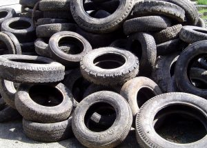 Pile-of-old-tires-Charlotte-Lake-Norman-Monroe-Personal-Injury-Attorney-300x215