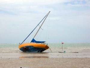beached-boat-Charlotte-Monroe-Mooresville-Lake-Norman-Personal-Injury-Lawyer-300x225